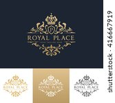 royal place logo. hotel crest... | Shutterstock .eps vector #416667919