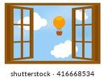 Illustrated Window Isolated...