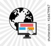 money design. payment online.... | Shutterstock .eps vector #416679967