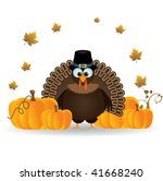 thanksgiving turkey on white | Shutterstock .eps vector #41668240