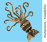 squid illustration | Shutterstock .eps vector #416686501