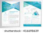 vector brochure flyer design... | Shutterstock .eps vector #416698639