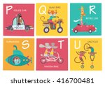 cute vector alphabet with... | Shutterstock .eps vector #416700481