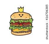 queen hamburgers . cartoon... | Shutterstock .eps vector #416706385