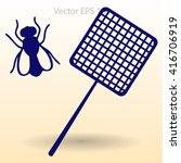 get rid of flies using a fly... | Shutterstock .eps vector #416706919