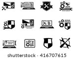 computer service and repair... | Shutterstock . vector #416707615