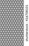 hexagonal grid background. cube ... | Shutterstock .eps vector #416708101