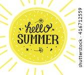 vector bright summer card.... | Shutterstock .eps vector #416712559