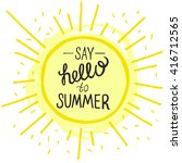 vector bright summer card.... | Shutterstock .eps vector #416712565