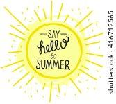 vector bright summer card.... | Shutterstock .eps vector #416712565