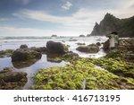 view of watu lampung beach...   Shutterstock . vector #416713195