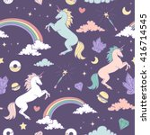 Magic Seamless Pattern With...