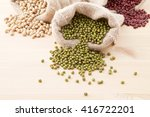 assortment of beans and lentils ... | Shutterstock . vector #416722201