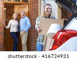 adult daughter moving out of... | Shutterstock . vector #416724931
