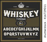 whiskey label font and sample... | Shutterstock .eps vector #416729011