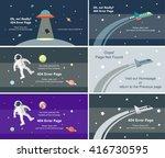 vector set of 404 error page... | Shutterstock .eps vector #416730595