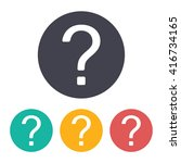 vector flat question mark icon... | Shutterstock .eps vector #416734165
