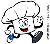 chef hat running | Shutterstock .eps vector #416739007