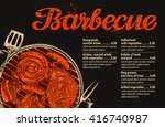 bbq party. barbecue vector... | Shutterstock .eps vector #416740987