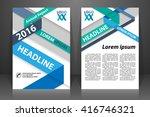 abstract vector modern flyers... | Shutterstock .eps vector #416746321