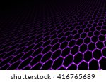 Purple Curve Metallic Mesh On...
