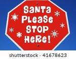 "Stop Sign Reading ""santa Pleas..."