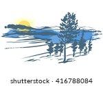 vector landscape. imitation of...   Shutterstock .eps vector #416788084