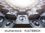 tunnel of the audio speakers | Shutterstock . vector #416788834