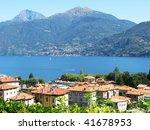 Menaggio town at famous Italian lake Como  outdoor - stock photo