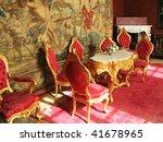 Interior of villa Monastero. Lake Como, Italy - stock photo