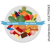healthy and unhealthy lifestyle ... | Shutterstock .eps vector #416795065