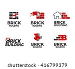 brick building logo design... | Shutterstock .eps vector #416799379