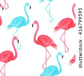flamingo blue and pink... | Shutterstock . vector #416799595