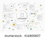 vector original minimalist cv   ... | Shutterstock .eps vector #416800837