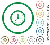 set of clock color round...