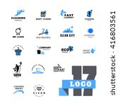 vector logo group for cleaning...   Shutterstock .eps vector #416803561