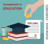 invest in education concept.... | Shutterstock .eps vector #416810851