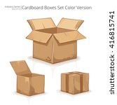 cardboard boxes. abstract set... | Shutterstock .eps vector #416815741