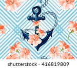 beautiful seamless vector ... | Shutterstock .eps vector #416819809