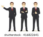 set of business man in... | Shutterstock .eps vector #416822641