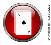 playing cards icon | Shutterstock . vector #416828221