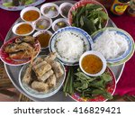 typical food from the mekong... | Shutterstock . vector #416829421