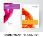 vector abstract business... | Shutterstock .eps vector #416832754