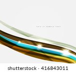 abstract line background  ... | Shutterstock .eps vector #416843011