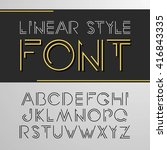 vector linear font   simple and ... | Shutterstock .eps vector #416843335
