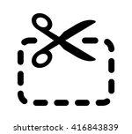 scissors cutting coupon line... | Shutterstock .eps vector #416843839