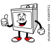 clothes dryer with thumbs up | Shutterstock .eps vector #416843911