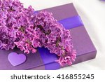 Purple Lilac Flowers On A...