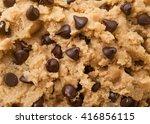 Close Up Shot Of Chocolate Chi...