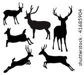 Deer Silhouette.vector...
